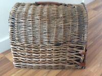 Cat wicker carry basket