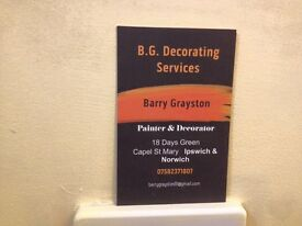 B.G. Painting and Decorating services providing a Good Quality service at a Good Price.