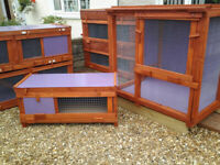 rabbit hutches all sizes and runs and bespoke plastic units from £45 glasgow 7days tommy
