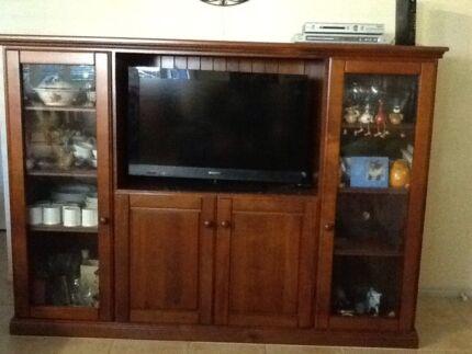 Entertainment unit with storage.