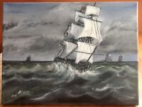 New hand painted oil painting ,painted on canvas , the size is 16x 12