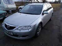 LHD , left hand drive Mazda 6. 2003 year, petrol engine 1.8 , manual gearbox