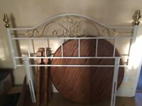 double metal headboard