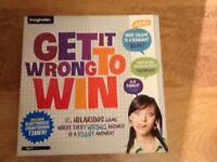 Get it Wrong to Win Board Game