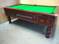 7x4 Slate Bed Coin Operated Pub Pool Table. Brand new recover in speed cloth and new accessories.