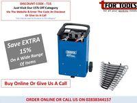 Draper 11967 12/24V 360A Battery Starter/Charger + Free 12pce Spanner Set