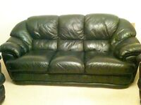 HOUSE CLEARANCE - ALL ITEMS MUST GO BY 25 MARCH 2017 - FUTON, LEATHER 3-PIECE SUITE