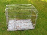 GALVANISED HEAVY DUTY DOG/ANIMAL FOLDABLE CAGE/COLLAPSIBLE