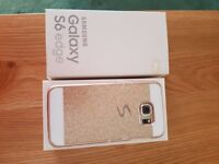 Mobile phone - Samsung S6 Edge Gold. Immaculate condition with box. 32gb