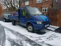 2001 ford transit pick up 2.0 tax and tested flat bed tipper