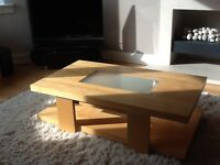 Furniture, coffee table, side tables (2) and tv/ hi fi unit, ex John lewis