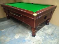 7x4 Slate Bed Pub Pool Table. New Recover. Coin Op or Freeplay. Includes local delivery