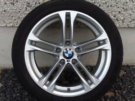 18INCH 5/120 GENUINE BMW 5 SERIES ALLOY WHEELS WIDER REARS & RUNFLAT TYRES