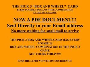 Lottery System Pick 3 Box and Wheel Card, PDF Doc Every Possible Combination