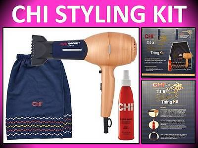 Hair Dryer Kit (NEW! NO BOX ~ CHI ROCKET LOW EMF IT'S A SHORE THING HAIR BLOW DRYER STYLING KIT )