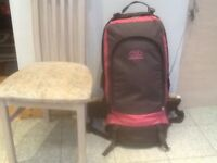 Large 90 litre capacity HighLander clamshell opening travel rucksack-lightly used,great condition