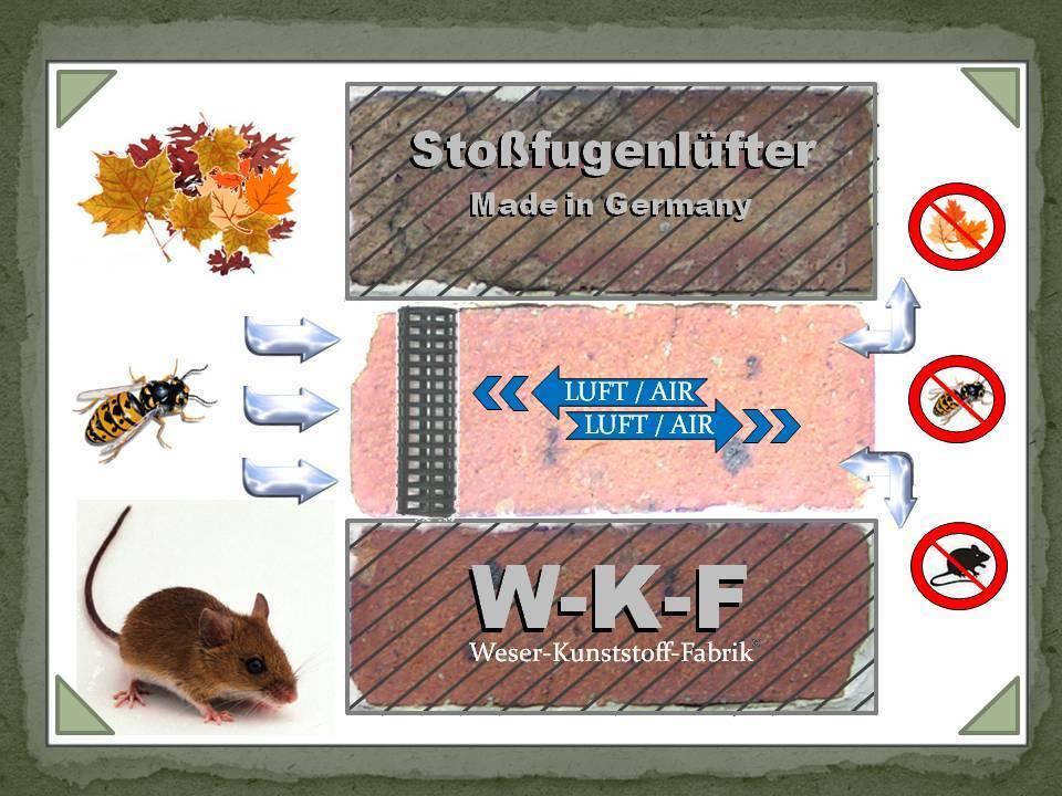 Fugenlüfter, Stoßfugengitter, Stoßfugenlüfter, Klinker, 50 Stück