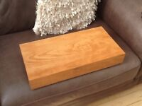 Solid beech chopping block