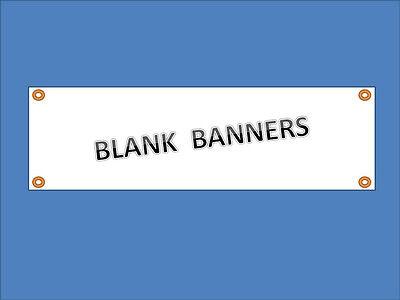2 Ft X 6 Ft Blank Vinyl Banner 13 Oz White With Grommets Pack Of 4 Free Sh