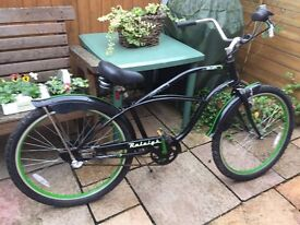 """raleigh cruiser bike 26"""" wheels 3 speed nice comfy bike"""
