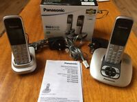 PANASONIC CORDLESS DECT PHONES WITH DIGITAL ANSWERING MACHINE