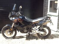KTM 950 Adventure, fully loaded for touring.