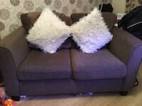 3 and 2 seater chocolate brown sofas