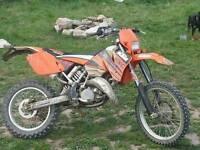 KTM 125 exc Xreg £1500 (35bhp)