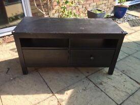 Hemnes black TV cabinet unit
