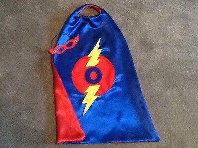 Childrens Personalised Superhero cape and mask - handmade