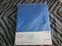 blue curtains brand new in packet szie 46 inch wide x 72 inch drop