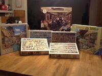 3 x 1000 piece, 4 x 750 piece jigsaw puzzles