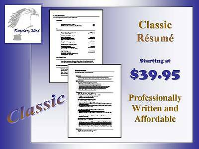 Professional Resume Writing Service   Classic One Page Resume