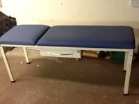 Doctors examination couch, choice of metal or wood frame.