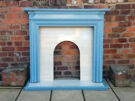 Upcycled wooden fire surround