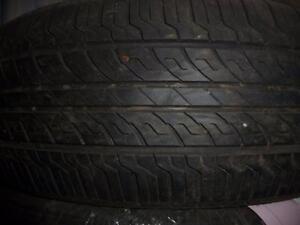 2 pneus d'été 195/55/15 Hankook Optimo H420, 40% d'usure, 6/32 de mesure