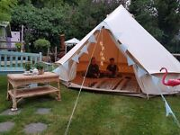 4 metre bell tent for hire