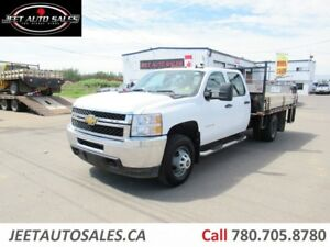 2013 Chevrolet 3500 Crew Cab with 10 Ft Flat Deck