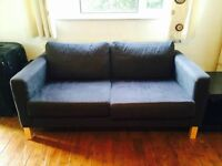 IKEA 2 seater karlstad dark grey sofa £50