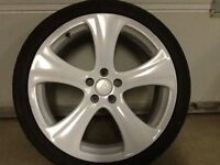 18INCH 5/100 GENUINE KAHN RSC ALLOY WHEELS WITH TYRES FIT VW SEAT AUDI ETC