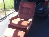 RECLINING HIGH SEAT FIRE SIDE CHAIR