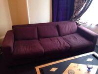 FREE 3 seater purple sofa