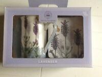 Mug and coaster set -lavender decoration