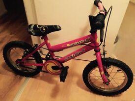 girls bike in pink