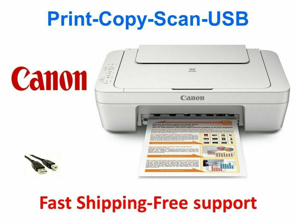 Canon Color Printer Compact All-in-One Copier Scanner MG2522 (Ink Not Included)