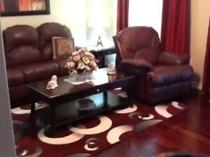 Real leather Sofa set & tables