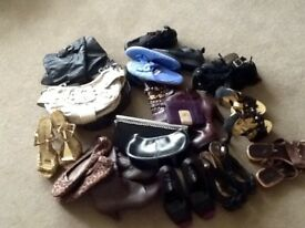 Joblot of footwear and bags Car boot
