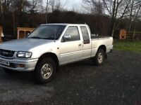 Isuzu double cab pickup. 4 wheel drive. Low mileage. One owner