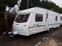 Lunar Freelander EW 4 Berth caravan FIXED BED, Twin axle, Awning, Bargain !!!