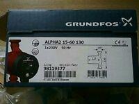 BRAND NEW GRUNDFOSS ALPHA 15-60 130 PUMP+PUMP VALVES £99.99
